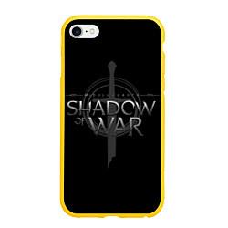 Чехол iPhone 6/6S Plus матовый Shadow of War цвета 3D-желтый — фото 1