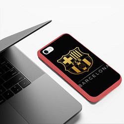 Чехол для iPhone 6/6S Plus матовый с принтом Barcelona Gold Edition, цвет: 3D-красный, артикул: 10145319505961 — фото 2
