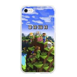 Чехол iPhone 6/6S Plus матовый Minecraft: Даша цвета 3D-белый — фото 1