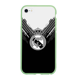 Чехол iPhone 6/6S Plus матовый FC Real Madrid: Black Style цвета 3D-салатовый — фото 1