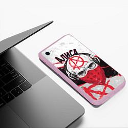 Чехол iPhone 6/6S Plus матовый АлисА: Анархия цвета 3D-розовый — фото 2