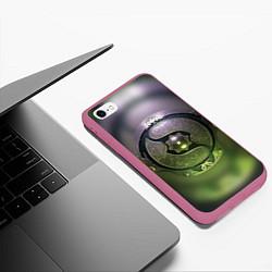 Чехол iPhone 6/6S Plus матовый The International: Aegis 2018 цвета 3D-малиновый — фото 2
