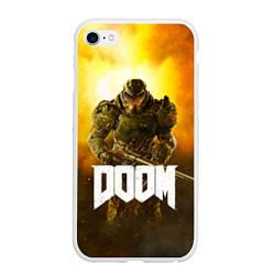 Чехол iPhone 6/6S Plus матовый DOOM: Soldier цвета 3D-белый — фото 1