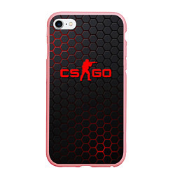 Чехол iPhone 6/6S Plus матовый CS:GO Grey Carbon цвета 3D-баблгам — фото 1