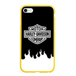 Чехол iPhone 6/6S Plus матовый HARLEY DAVIDSON цвета 3D-желтый — фото 1