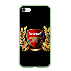 Чехол iPhone 6/6S Plus матовый Arsenal цвета 3D-салатовый — фото 1
