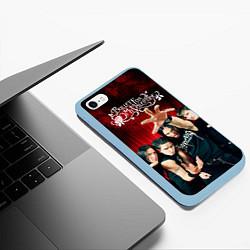 Чехол iPhone 6/6S Plus матовый Bullet for my valentine цвета 3D-голубой — фото 2