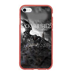 Чехол iPhone 6/6S Plus матовый Black Veil Brides: Faithless цвета 3D-красный — фото 1