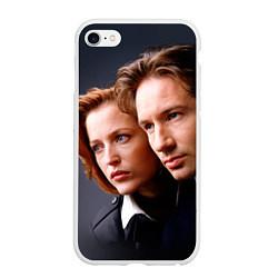 Чехол iPhone 6/6S Plus матовый Скалли и Малдер цвета 3D-белый — фото 1