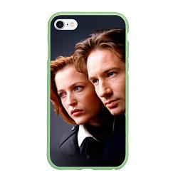 Чехол iPhone 6/6S Plus матовый Скалли и Малдер цвета 3D-салатовый — фото 1