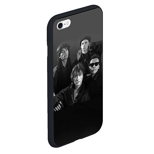 Чехол iPhone 6 Plus/6S Plus матовый Группа Кино / 3D-Черный – фото 2