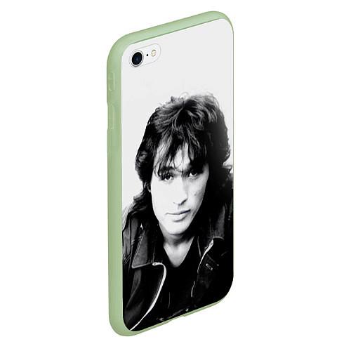 Чехол iPhone 6 Plus/6S Plus матовый Кино: Виктор Цой / 3D-Салатовый – фото 2