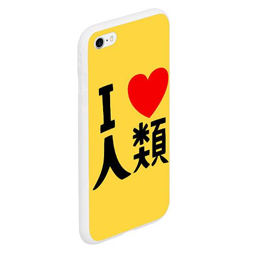 Чехол iPhone 6 Plus/6S Plus матовый No game no life Sora / 3D-Белый – фото 2