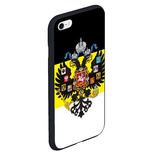 Чехол iPhone 6 Plus/6S Plus матовый Имперский Флаг / 3D-Черный – фото 2