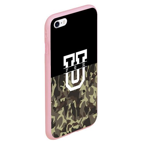 Чехол iPhone 6 Plus/6S Plus матовый FCK U: Camo / 3D-Баблгам – фото 2