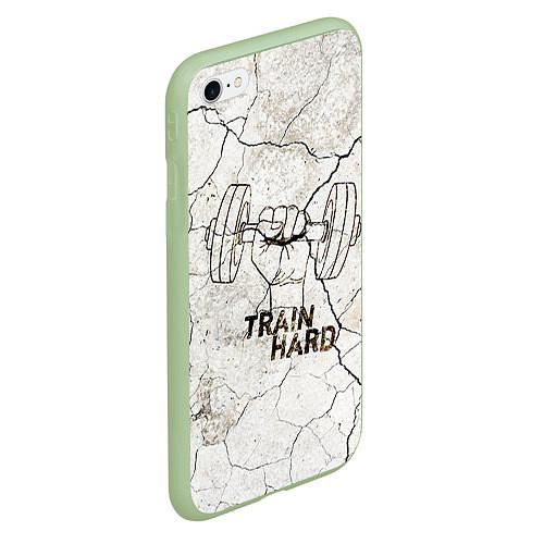 Чехол iPhone 6 Plus/6S Plus матовый Train hard / 3D-Салатовый – фото 2