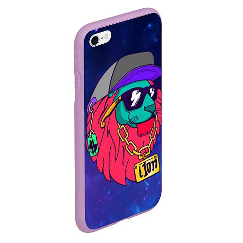 Чехол iPhone 6 Plus/6S Plus матовый Лев SWAG / 3D-Сиреневый – фото 2