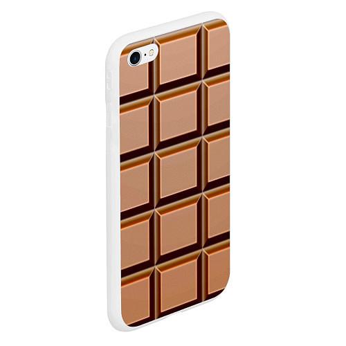 Чехол iPhone 6 Plus/6S Plus матовый Шоколад / 3D-Белый – фото 2