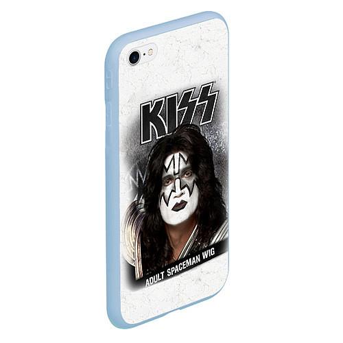 Чехол iPhone 6 Plus/6S Plus матовый KISS: Adult spaceman wig / 3D-Голубой – фото 2