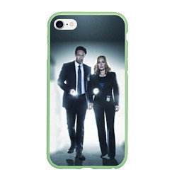 Чехол iPhone 6/6S Plus матовый Малдер и Скалли цвета 3D-салатовый — фото 1