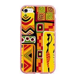 Чехол iPhone 6/6S Plus матовый Африка цвета 3D-баблгам — фото 1
