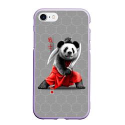 Чехол iPhone 7/8 матовый Master Panda цвета 3D-светло-сиреневый — фото 1
