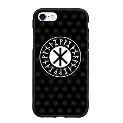 Чехол iPhone 7/8 матовый Защита Одина цвета 3D-черный — фото 1