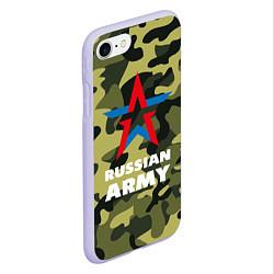 Чехол iPhone 7/8 матовый Russian army цвета 3D-светло-сиреневый — фото 2