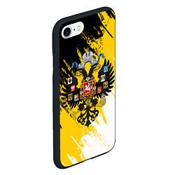 Чехол iPhone 7/8 матовый Имперский флаг и герб цвета 3D-черный — фото 2