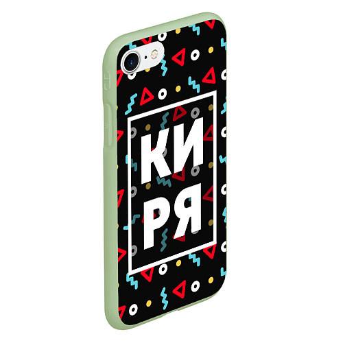 Чехол iPhone 7/8 матовый Киря / 3D-Салатовый – фото 2
