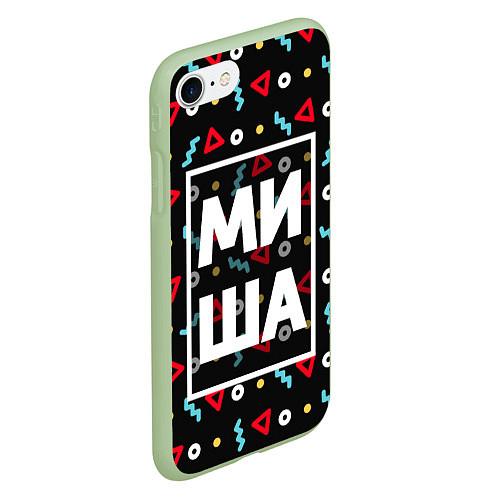 Чехол iPhone 7/8 матовый Миша / 3D-Салатовый – фото 2