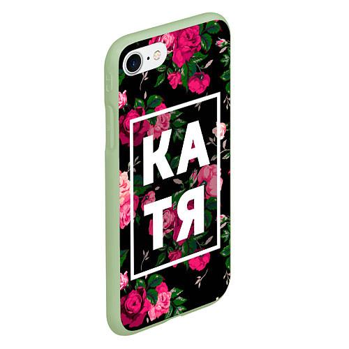 Чехол iPhone 7/8 матовый Катя / 3D-Салатовый – фото 2