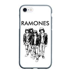 Чехол iPhone 7/8 матовый Ramones Party цвета 3D-серый — фото 1