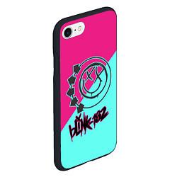 Чехол iPhone 7/8 матовый Blink-182 цвета 3D-черный — фото 2
