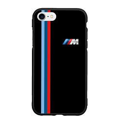 Чехол iPhone 7/8 матовый BMW M: Black Collection цвета 3D-черный — фото 1