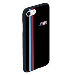 Чехол iPhone 7/8 матовый BMW M: Black Collection цвета 3D-черный — фото 2