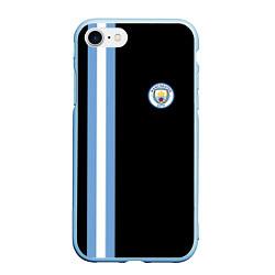 Чехол iPhone 7/8 матовый Манчестер Сити цвета 3D-голубой — фото 1
