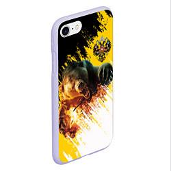 Чехол iPhone 7/8 матовый Имперский медведь цвета 3D-светло-сиреневый — фото 2