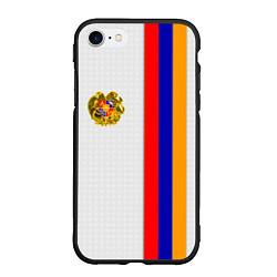 Чехол iPhone 7/8 матовый I Love Armenia цвета 3D-черный — фото 1