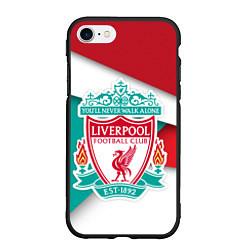 Чехол iPhone 7/8 матовый FC Liverpool цвета 3D-черный — фото 1