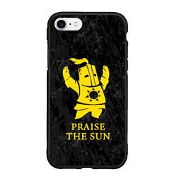 Чехол iPhone 7/8 матовый Praise The Sun цвета 3D-черный — фото 1
