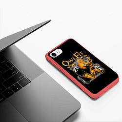 Чехол iPhone 7/8 матовый Owl Fit цвета 3D-красный — фото 2