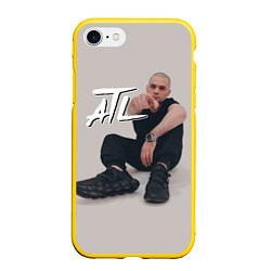Чехол iPhone 7/8 матовый ATL цвета 3D-желтый — фото 1