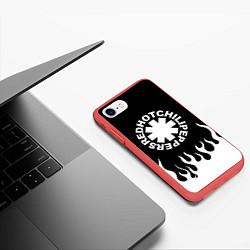 Чехол iPhone 7/8 матовый Red Hot Chili Peppers цвета 3D-красный — фото 2