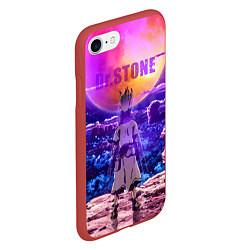 Чехол iPhone 7/8 матовый Доктор Стоун цвета 3D-красный — фото 2