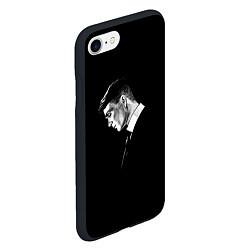 Чехол iPhone 7/8 матовый Peaky Blinders цвета 3D-черный — фото 2