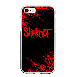 Чехол iPhone 7/8 матовый SLIPKNOT цвета 3D-белый — фото 1