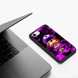 Чехол iPhone 7/8 матовый ГЕНЕРАЛ ГАВС - Brawl Stars цвета 3D-черный — фото 2