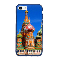 Чехол iPhone 7/8 матовый Храм Василия Блаженного цвета 3D-тёмно-синий — фото 1