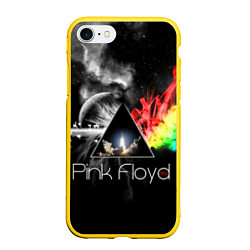 Чехол iPhone 7/8 матовый Pink Floyd цвета 3D-желтый — фото 1